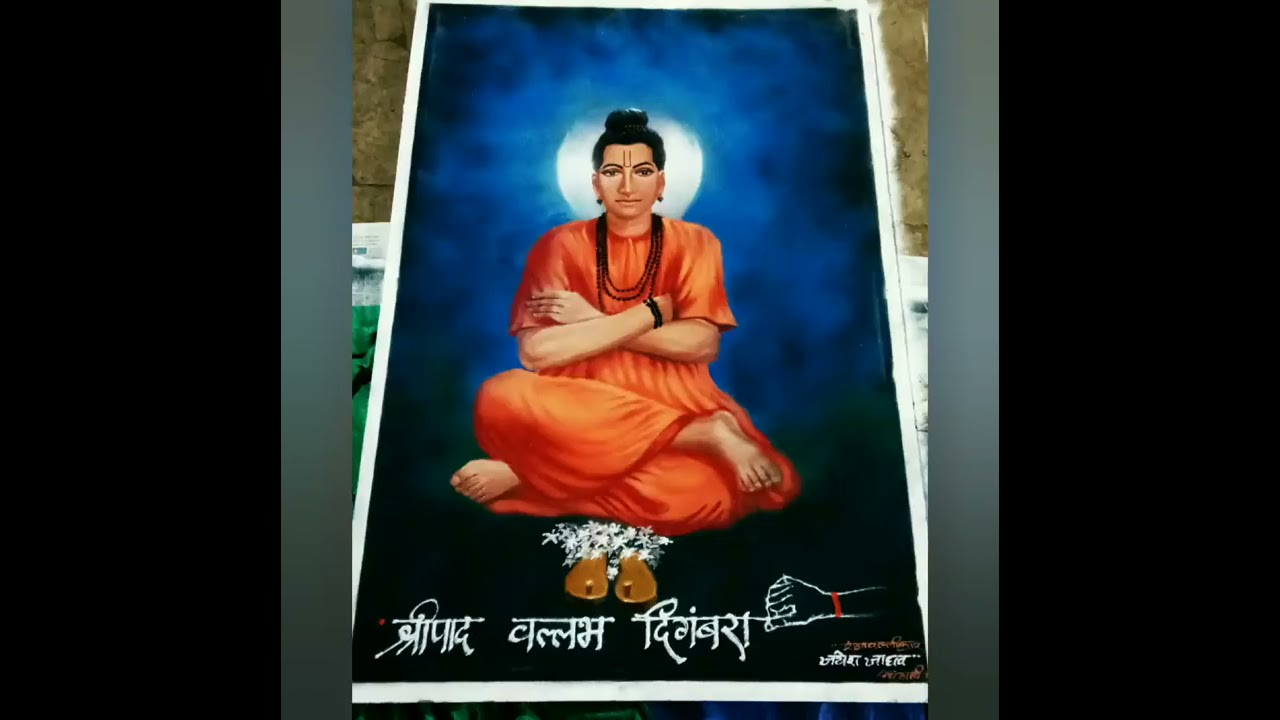 portrait rangoli design of a sage by jayesh jadhav