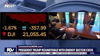 WHITE HOUSE ROUNDTABLE: President Trump meets with energy sector CEOs
