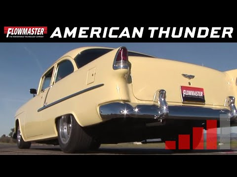 1955-57 Chevrolet Cars- American Thunder Exhaust System 817174