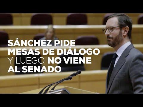 Sánchez pide mesas de diálogo y luego no viene al senado