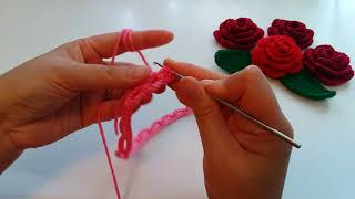 Easy To Crochet Rose Flower