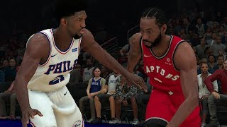 NBA 2K19 Philadelphia 76ers vs Toronto Raptors Full Game – NBA 2K19 Gameplay (PS4)