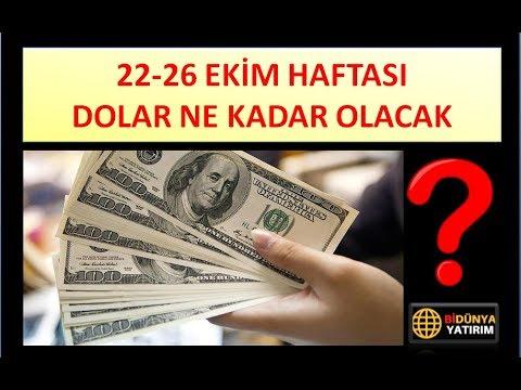 22-26 EKİM HAFTASI DOLAR NE KADAR OLACAK (видео)