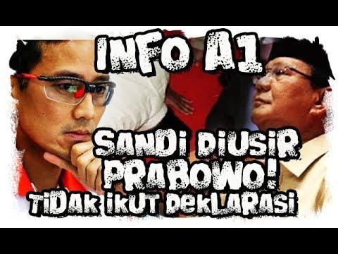 Info A1,  Sandi Tak Ikut Deklarasi Karena Diu5ir Wowo berita terbaru, berita terkini 18 April 2019