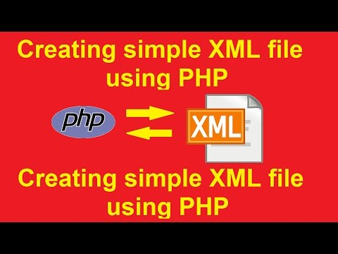 how to create xml file using php