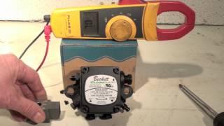 Pump mounted oil burner solenoid