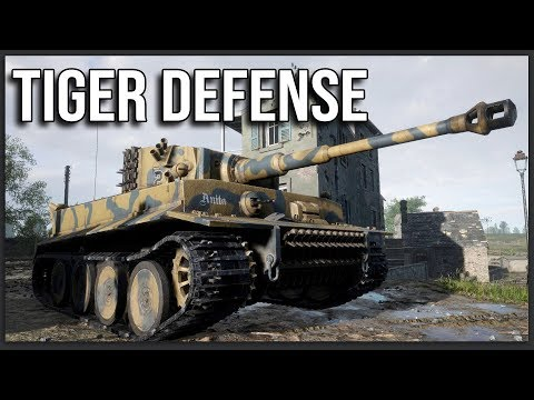 OBLITERATING AN AMERICAN ADVANCE WITH A TIGER TANK   Hell Let Loose