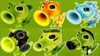 Plants vs Zombies Garden Warfare All Pea Plants - All Characters