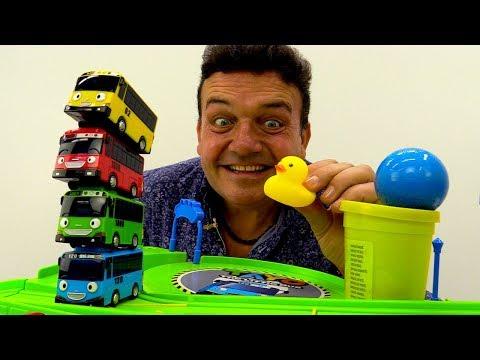 Tayo el Pequeño Autobús de juguete.  Colores para niños