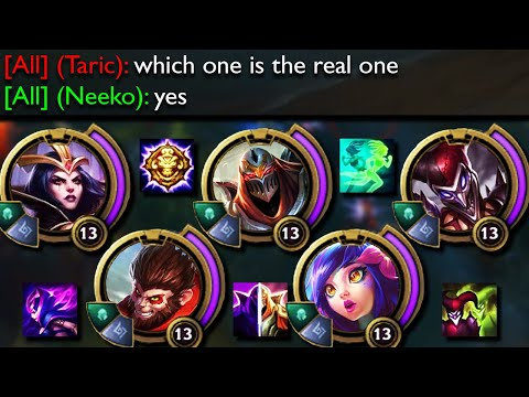 League of Legends but all 5 of us can create a clone so it's basically a 10 v 5