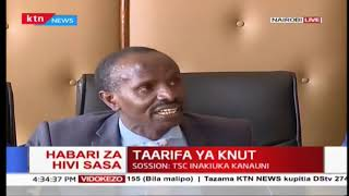 KNUT insists that lacks funds as TSC has not disbursed