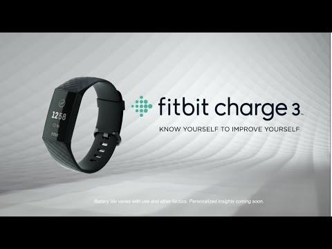 Fitbit Charge 3 hallikassinine / roosa kuld