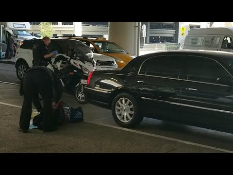Lax airport police  Towing a unauthorized limousine at Los Angeles International Airport