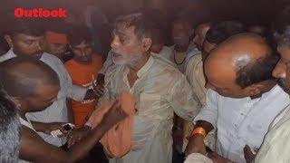 BJP Leader Falls Into River During Visit To Flood-Hit Patna