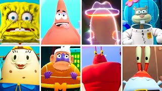 SpongeBob Battle for Bikini Bottom Rehydrated - All Idle Animations / All Characters