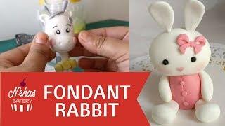 Fondant Bunny | Rabbit | Animal Cake Topper | Cute Animals