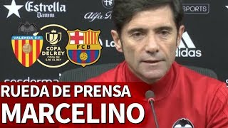 Valencia-Barcelona | Rueda De Prensa Previa De Marcelino | Diario AS