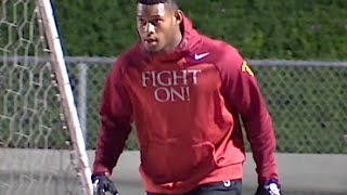 USC Receiver JuJu Smith-Schuster putting in work at the Elite11 2016