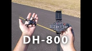 DA HENG DH - 800 Micro Foldable Quadcopter Wrist Watch Design Transmitter Unboxing and Flight Review