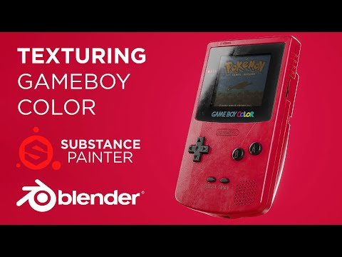 Lets Texture a Gameboy Color in Substance Painter and Blender