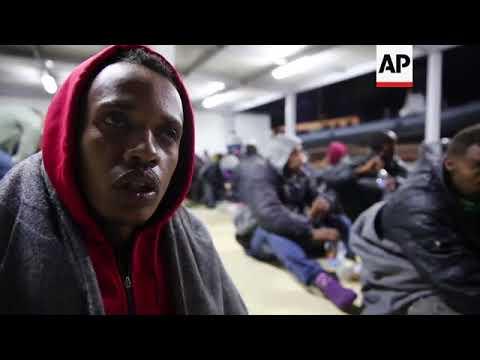 Libyan coast guard rescue 97 migrants en route to Europe