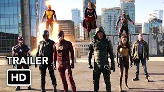 Сериалы CW, The Flash, Arrow, Supergirl, DC's Legends of Tomorrow 4 Night Crossover Event Trailer (HD)