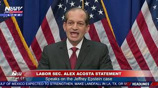 DEFENDING PLEA DEAL: Acosta SPEAKS on Jeffrey Epstein History