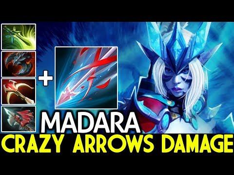 MADARA [Drow Ranger] Crazy Arrows Damage Imba Machine Gun 7.22 Dota 2