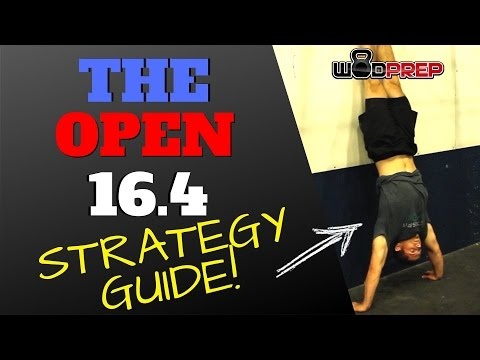 CrossFit Games Open 16.4 Strategy Tips (Official WODprep)