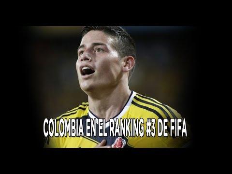 Colombia esta entre los 3 primeros del ranking FIFA