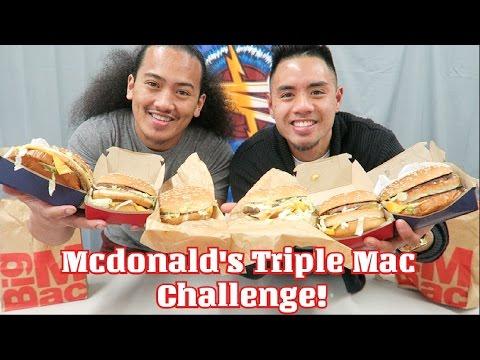 MCDONALD'S TRIPLE MAC CHALLENGE! EAT OFF