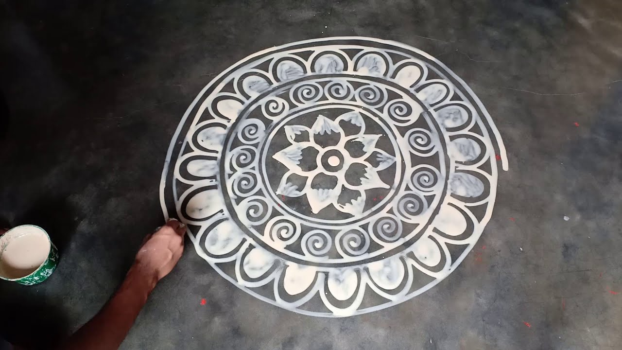 big alpana rangoli design for festivals bengali by mukesh arts