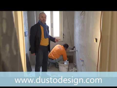 Ristrutturazione Bagno colonna porta lavatrice asciugatrice e doccia idromassaggio