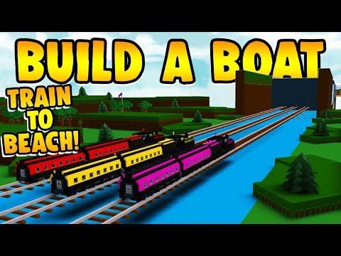 Build a Boat TRAIN RAIL TO THE BEACH!!! 🚂
