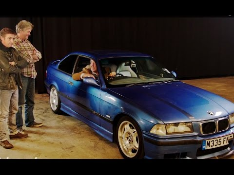 jeremy clarkson crashes bmw e36 m3 into empty chairs. Black Bedroom Furniture Sets. Home Design Ideas