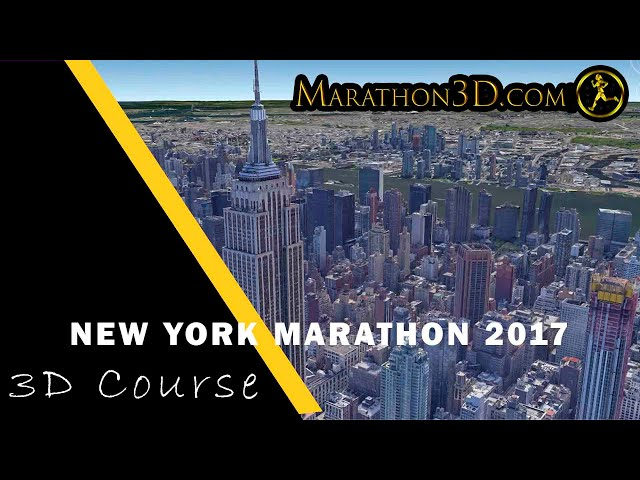 New York City Marathon 2017 3D Course