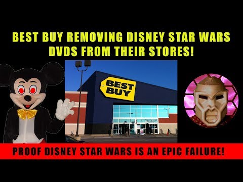 Disney Star Wars DVDs Removed from Best Buy! Epic Fail!