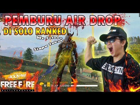 TOP GLOBAL BACOT PEJUANG SOLO RANK PEMBURU AIR DROP - GARENA FREE FIRE