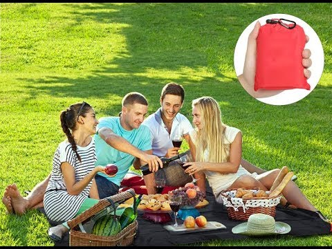 Honana 150cm Foldable Outdooors Pocket Blanket Picnic Mat