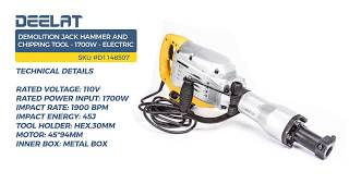Demolition Jack Hammer and Chipping Tool - 1700W - Electric