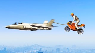 FLYING BIKES vs. JETS! (GTA 5 Funny Moments)
