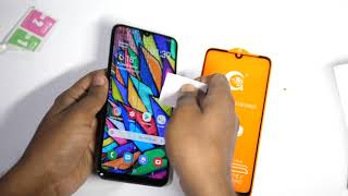 Galaxy A50 Tempered Glass installation and Fingerprint Test |Hindi|