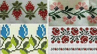 Easy & Simple Dosuti/Cross Stitch Border Design || New Tablecloth Design