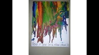 DIY | How to design  Canvas Crayon Melting Art | 5 Canvas Crayon Melting Designs | Quick and easy