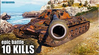 ИС-7 бой БЕЗ СТОЯЛОВА 🌟 10 ФРАГОВ 🌟 World of Tanks лучший бой на ИС 7