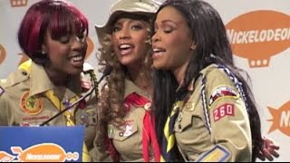 DESTINY'S CHILD sing in pressroom after Kids' Choice Awards win