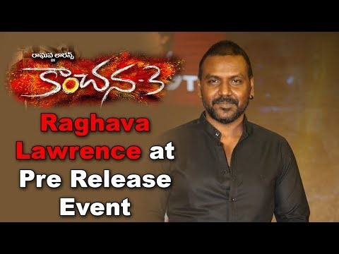 Raghava Lawrence at Kanchana 3 Movie Pre Release Event