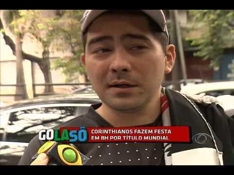 Matéria mostra torcida do corinthians em Belo Horizonte após o titulo