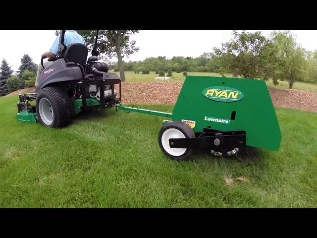 The Lawnaire Tow-Behind Aerator from Ryan Turf