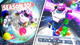 *NEW* GIANT SPACE ROBOT *FOUND* ON MOON AFTER PLAYERS GLITCH ABOVE MOON LOCATION! SEASON 10 UPDATE!